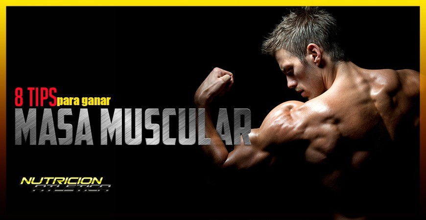 8 TIPS para ganar masa muscular